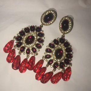 Kenneth Jay Lane post cabachon earrings
